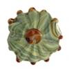 "Glass Bead Flower 20x21mm 8"" Strand (Approx.10pcs) Green"